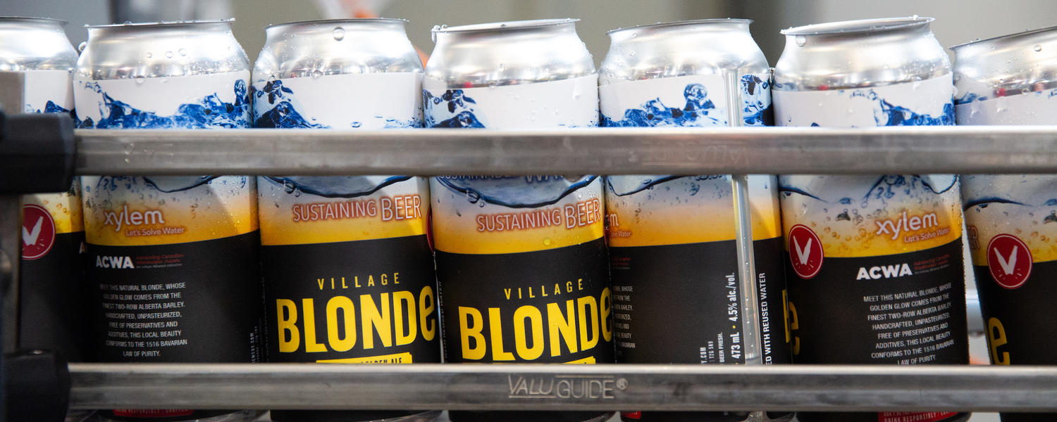 Village Blonde made with treated wastewater