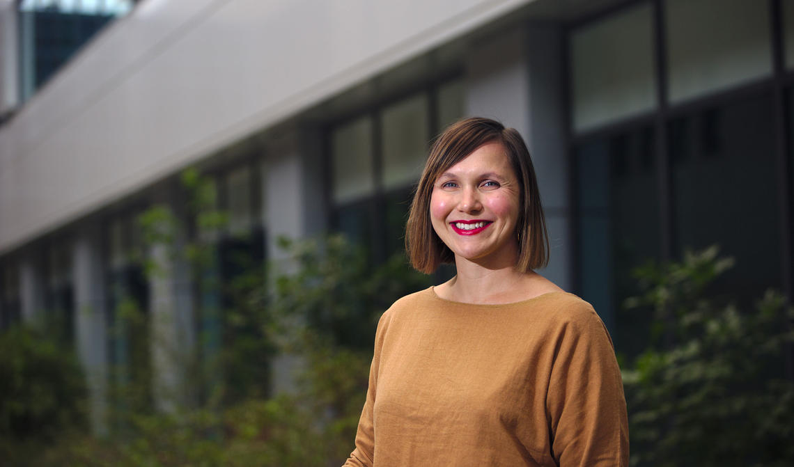 Amity Quinn received a Banting Postdoctoral Fellowship for her work in the O'Brien Institute for Public Health on medical public policy and quality of care in paid versus universal health-care systems.
